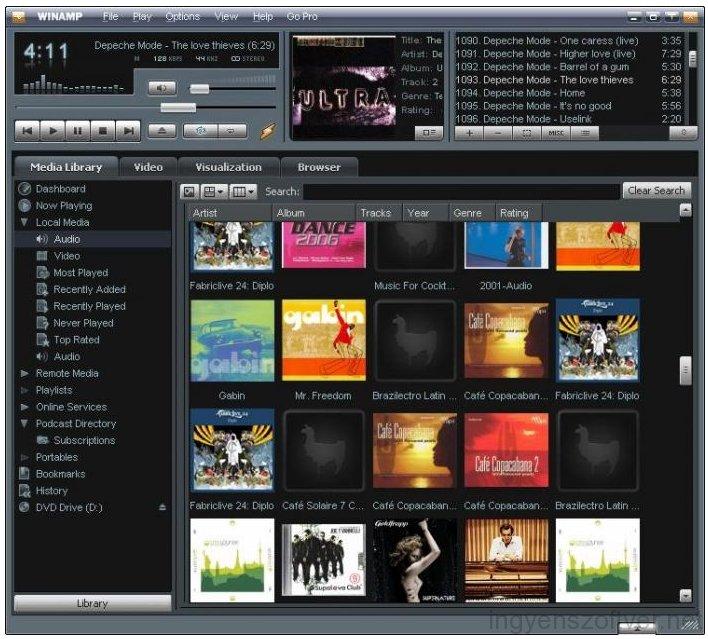 Описание программы мультимедиа Winamp Pro v5.7.